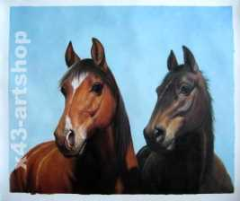 ölbilder nach foto handgemalt pferde